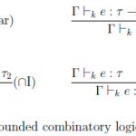 Type rules for Bounded Combinatory Logic (BCL)